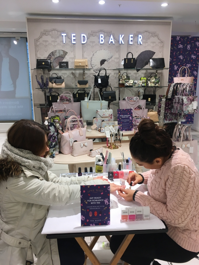 The Love Was Definitely Shared And Nails By Mets Busy With Eager Shoppers Keen To Invest In New Ted Baker Accessories A Spot Of Pampering